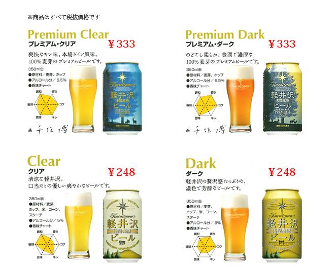 軽井沢ビール商品ラインナップ1