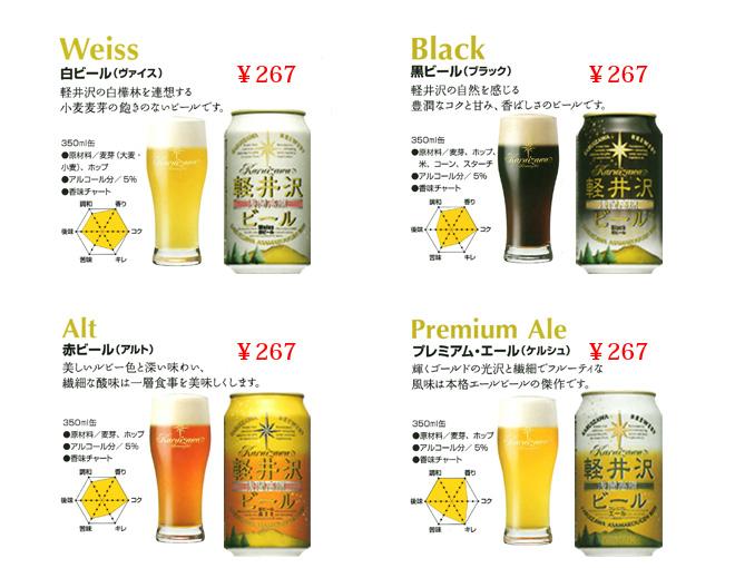 軽井沢ビール商品ラインナップ2