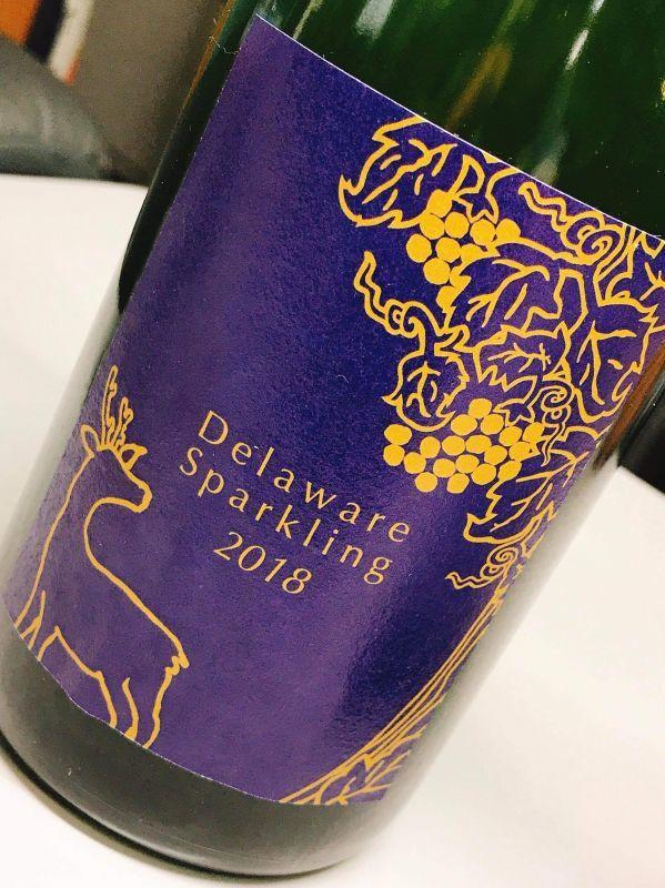 画像1: 奈良ワイン 2018デラウェアスパークリング Typ1 (1)